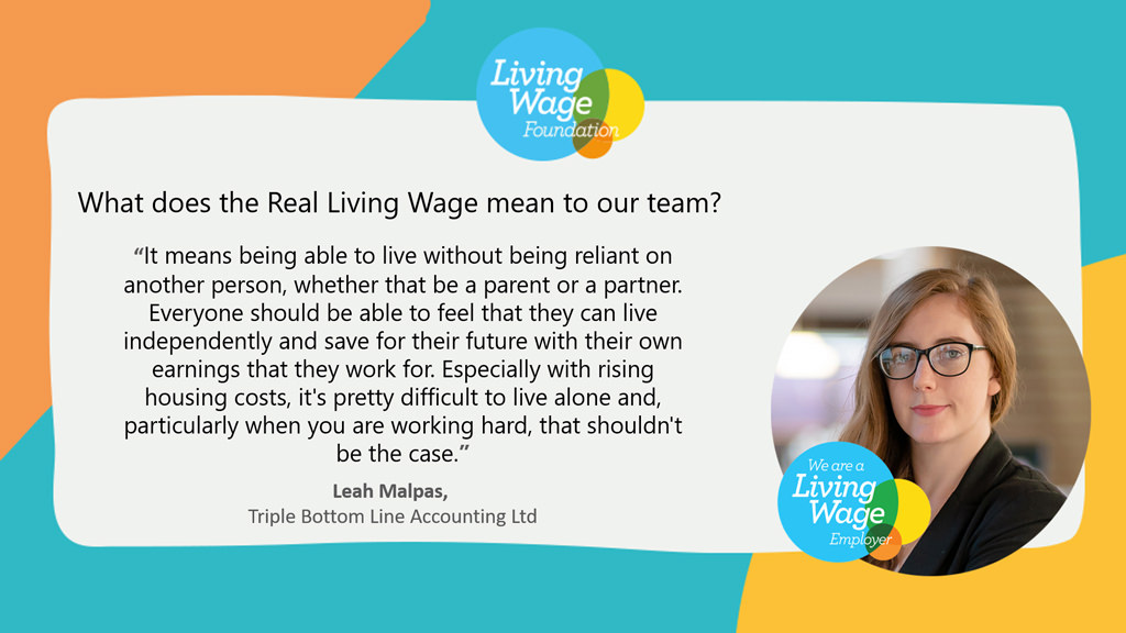 what living wage means to Leah