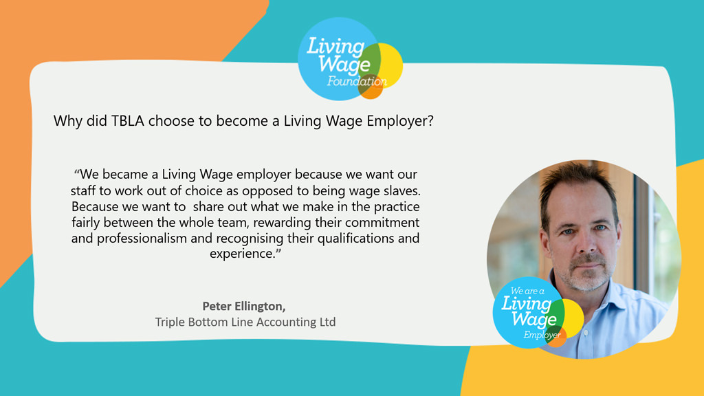 what living wage means to Peter Ellington