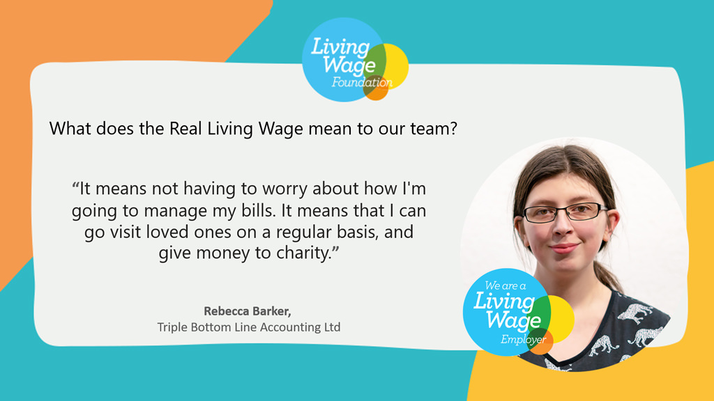 what living wage means to Rebecca