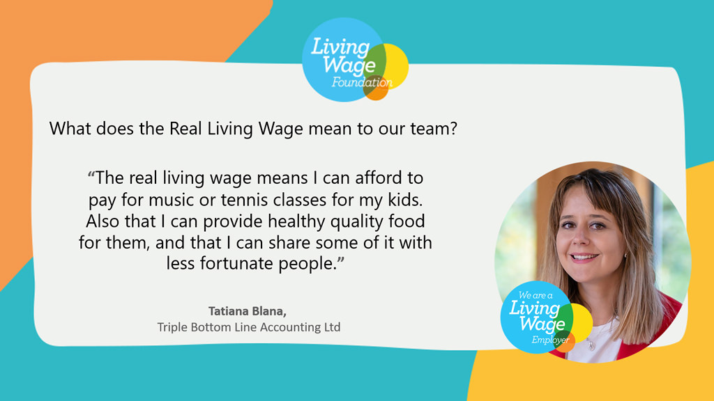 what living wage means to Tatiana